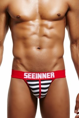 Slipy tanga SEEINNER Magic Stripes (Red)