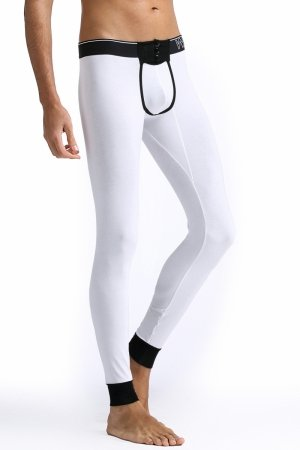 Long Johns WJ Buttons White