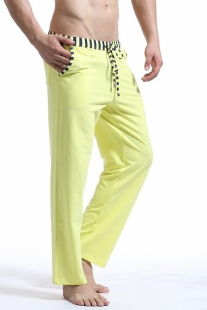 WJ Soft Touch Long Training Pants (Yellow)