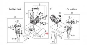 Osłona gumowa dźwigni Shimano ST-6700 (para)