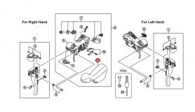 Osłona gumowa dźwigni Shimano ST-5700 czarna (para)