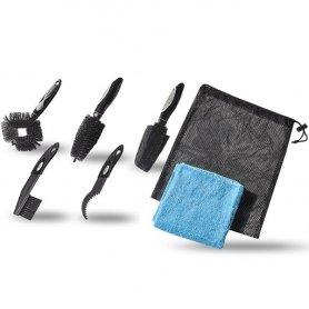 Zestaw szczotek PRO do czyszczenia 5 szczotek i ręcznik