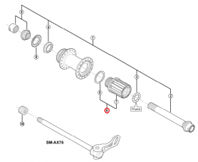 Główka piasty Shimano FH-M988 kompletna
