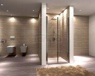 REA - Drzwi prysznicowe WESTERN SPACE z powłaką  Easy Clean
