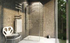 REA - Kabina prysznicowa prostokątna z drzwiami otwieranymi UNO