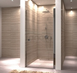REA - Drzwi prysznicowe UP my space uchylne + PROFIL PRZYŚCIENNY