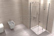 Rea - Kabina prysznicowa z pojedynczymi drzwiami składanymi MYSPACE Premium