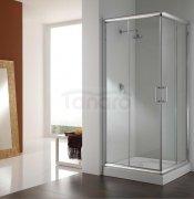 REA - Kabina prysznicowa kwadratowa FOCUS podwójne drzwi przesuwne bez brodzika