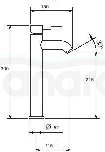 REA - Bateria umywalkowa wysoka Graf / Graff