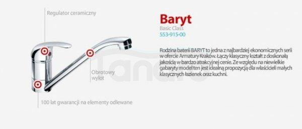 ARMATURA KRAKÓW - BARYT umywalkowa stojąca z obrotową wylewką 552-915-00