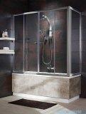 Radaway Vesta DWD+S Parawan nawannowy 140x65cm szkło fabric 203140-06/204065-06