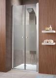 Radaway Eos DWD Drzwi wnękowe 90 szkło przejrzyste + brodzik Delos C + syfon 37703-01-01N