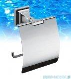 Omnires Portofino uchwyt na papier toaletowy z klapką chrom B3291