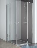 Radaway Eos II KDD kabina prysznicowa 80x80 szkło przejrzyste + brodzik Delos C + syfon 3799460-01L/3799460-01R/SDC0808-01
