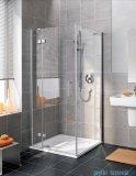 Kermi Gia XP Drzwi do montażu ze ścianą boczną, lewe, przezroczyste, profile srebrne 90x185cm GXSWL09018VAK