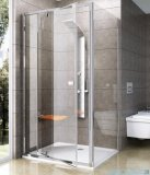 Ravak Pivot PPS ścianka prysznicowa 90cm białe transparent Anticalc 90G70100Z1
