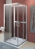 Radaway Premium Plus C+2S kabina czterościenna kwadratowa 80x80 szkło grafit 30463-01-05N/33443-01-05N