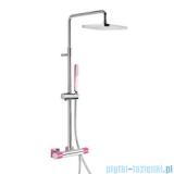 Tres Loft Colors Zestaw termostatyczny natryskowy różowy 200.195.01.FU
