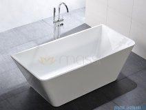Massi Simple 170 wanna wolnostojąca prostokątna 170x80cm biała MSWA819170
