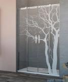 Grawer na szkle dla kabin Radaway wzór 05 tree