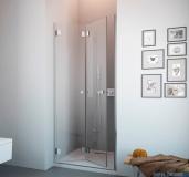 Radaway Carena DWB Drzwi prysznicowe 90 lewe szkło przejrzyste + brodzik Delos C + Syfon 34502-01-01NL