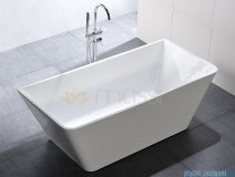 Massi Simple 150 wanna wolnostojąca prostokątna 150x75 cm biała MSWA819150