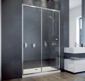Besco Duo Slide drzwi prysznicowe przesuwne 130x195 przejrzyste DDS-130