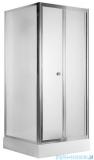 Deante Flex drzwi wnękowe składane 80x185 cm szkło szronione KTL 622D