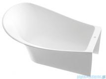 Marmorin Misa wanna przyścienna z przelewem lewa 155x92 cm biała 634155720210