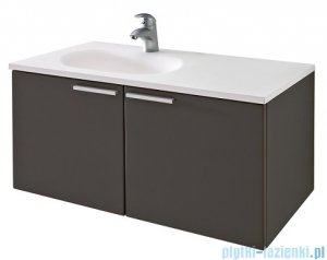 Antado Sycylia szafka z umywalką lewa 90x48x45 grafit mat KTS-140/2-U164L + UMMO-900-03L
