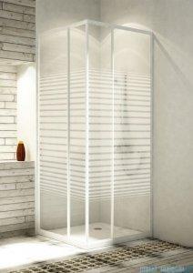 Aquaform Variabel kabina prysznicowa kwadratowa szkło pasy profil biały 26951