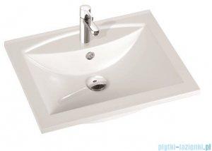 Marmorin umywalka nablatowa Larissa 60 cm bez otworu biała 300060022010