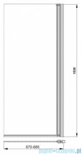 Poolspa Parawan nawannowy prosty Clif-N 67x153 (lewy/prawy) PI4000094