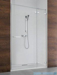 Radaway Euphoria DWJ Drzwi wnękowe 130 prawe szkło przejrzyste + brodzik Doros D + syfon 383017-01R/SDRD1390-01