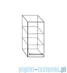 Antado Variete Szafka wisząca 30x20x72 czarny połysk FM-418-9017