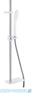 Omnires Siena-S zestaw prysznicowy suwany z mydelniczką biały/chrom Siena-S