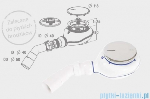 Radaway Turboflow 2 syfon z odpływem Ǿ 90 chrom TB21