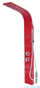Corsan Royal Panel natryskowy z mieszaczem czerwony A-013SCZERWONY