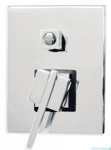 Deante Cubic Bateria natryskowa podtynkowa z przełącznikiem natrysku chrom BDD 044P