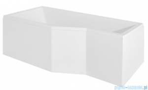 Besco Integra 170x75cm wanna asymetryczna lewa + obudowa + syfon #WAI-170-PL/#OAI-170-NS/19975