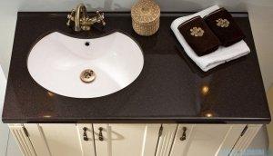 Antado Ritorno umywalka dolomitowa z blatem ciemny brąz 100x52cm UMB-1004-04