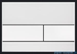Tece Przycisk spłukujący ze szkła do WC Tecesquare szkło białe przyciski białe 9.240.800