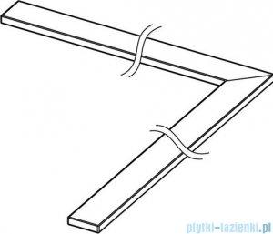 Tece Ruszt kątowy Stell II ze stali nierdzewnej Tecedrainline 100x100 cm połysk 6.110.82