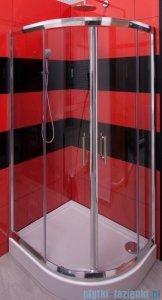Omnires Health kabina 2-skrzydłowa prawa JK28 80x90x185cm szkło przejrzyste JK2808/09P