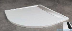 SanSwiss Ila Wir Brodzik półokrągły 90x90cm kolor biały/czarny WIR550900604