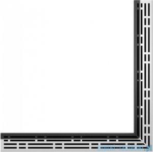 Tece Ruszt kątowy Basic ze stali nierdzewnej Tecedrainline 100x100 cm połysk 6.110.10