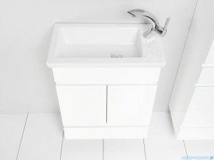 Antado Gabi szafka z umywalką 56,5x30cm biały połysk GBY-140/60-WS+UCS-IS-60