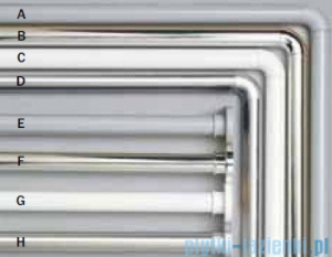 Sealskin Drążek prysznicowy Seallux 90x90 aluminium biały 276666210