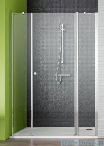 Radaway Eos II DWJS Drzwi prysznicowe 140x195 prawe szkło przejrzyste + brodzik Argos D + syfon 3799456-01R/4AD914-01