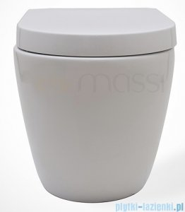 Massi Decos miska wisząca+deska wolnoopadająca z zawiasem metalowym biała MSM-3673DU